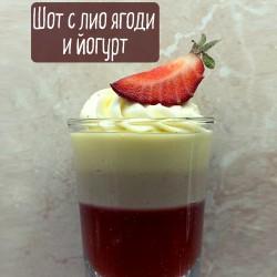 Шот с лио ягоди и йогурт от Петко Костадинов