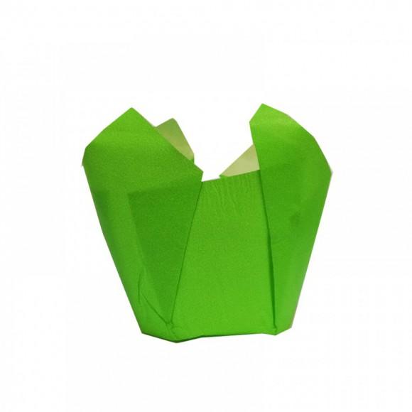 Капсули лале - зелени Ø50 h55мм - 10бр