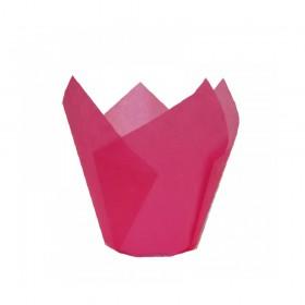 Капсули лале - розови Ø50 h55мм - 10бр