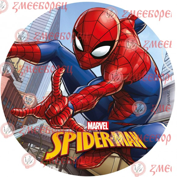 "Готова фотодекорация кръгла ""Spiderman 2"""