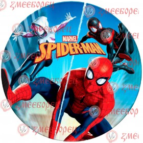 "Готова фотодекорация кръгла ""Spiderman 3"""