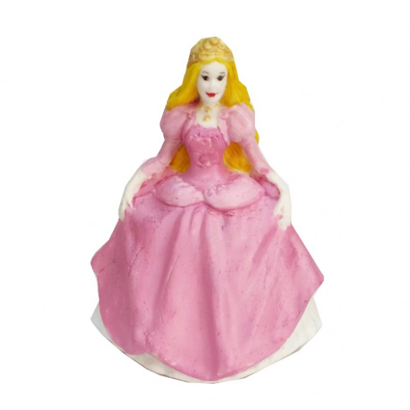 "Захарна фигурка ""Принцеса с розова рокля"""