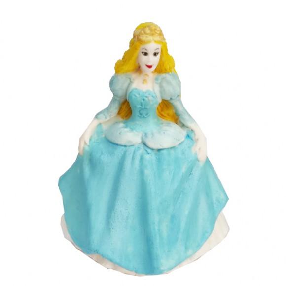"""Захарна фигурка """"Принцеса със синя рокля"""""""