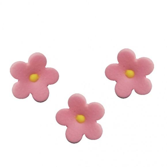 Комплект захарни цветлета - розови - 50бр