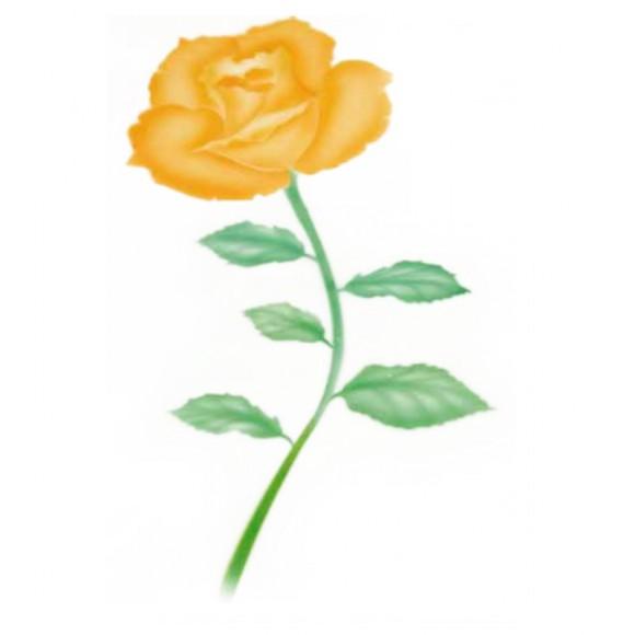 """Шаблон за въздушна четка """"Роза - голяма"""""""