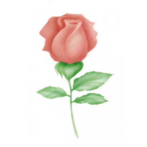 """Шаблон за въздушна четка """"Роза"""""""