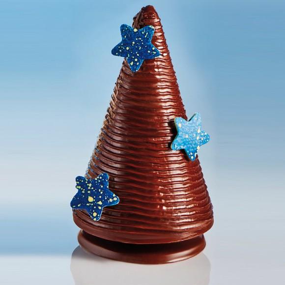 Шаблон шоколадова отливка - Звезди-големи