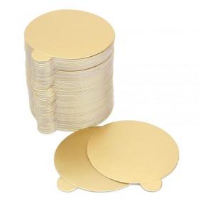 Позлатени подложки Ø10см - 100бр/пакет
