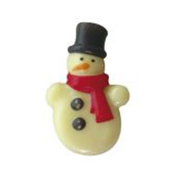 """Напечатана форма за шоколад с трансфер """"Снежен човек"""""""